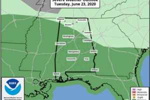 Occasional Showers/Storms Through Tomorrow