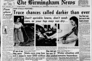 The July 1952 Heatwave, Drought, Water Shortage, and Forest Fires in Alabama