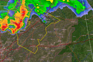 Severe Thunderstorm Warning for Parts of Etowah and St. Clair Counties Until 1:30 p.m.