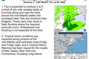 Tropical Storm Fay Forms Off the Coast of North Carolina