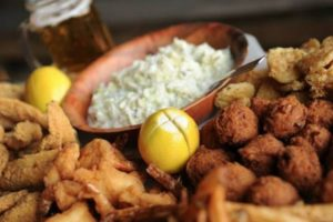 Catfish and Cole Slaw at Ezell's Among 100 Dishes to Eat in Alabama