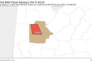 EXPIRED: New Flood Advisory for Tuscaloosa County Until 1:15 am Wednesday