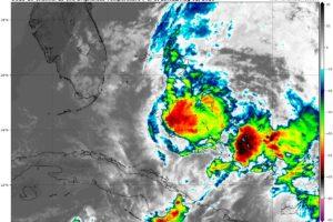 At 10:00 am, Isaias Making Landfall on Northern Andros Island