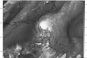 Isaias Still Paralleling the East Coast of Florida as a Strong Tropical Storm
