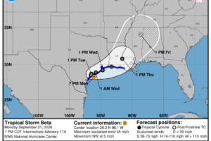 Beta Continues to Inch Closer and Closer to the Texas Coast Ever So Slowly
