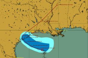 7 a.m. Advisory on Beta:  Moving Slowly West Northwest Toward the Texas Coast