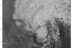 Beta is Now a Tropical Depression; Heavy Rains Continue Over Portions of Texas