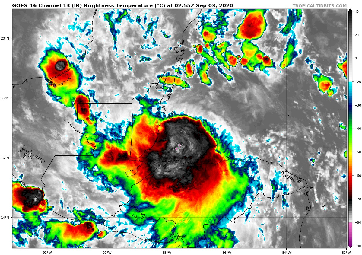 Nana Becomes A Hurricane Just Before Making Landfall Overnight The Alabama Weather Blog Mobile