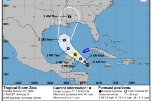 The Latest on Now Tropical Storm Zeta