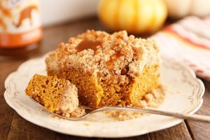 Recipe: Easy Caramel Pumpkin Crumb Cake