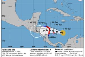 Hurricane Iota Rapidly Intensifying This Morning