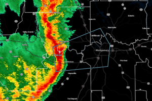 Storms With Gusty Winds About to Affect Portions of Autauga, Elmore, Lowndes, & Montgomery Counties