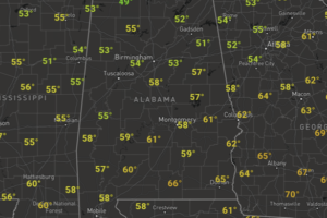 Midday Nowcast: Sunny and Cooler the Rest of Today