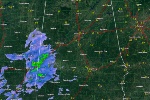 Showers Moving into West Alabama This Afternoon