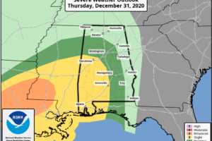 Strong to Severe Storms Possible Tonight Through the First Half of New Year's Day