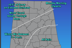 A Late Saturday Night Look at the Potential Wintry Precipitation for Sunday Night and Monday Morning