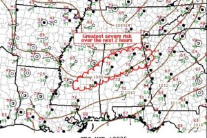 Updated Mesoscale Discussion from the SPC… Severe Threat Continues