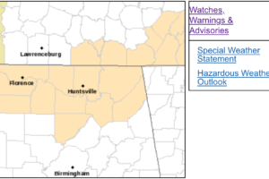 Special Weather Statement from NWS Huntsville for Freezing Fog in North Alabama