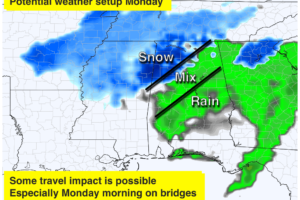 Cold, Dry Weekend; Rain Monday Along With Some Snow