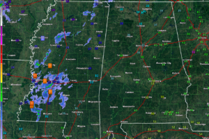 Reports to the West of Alabama at 2 p.m.