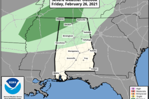 Rain Returns To North/Central Alabama Tomorrow