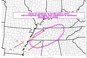 SPC Issues Mesoscale Discussion on Wintry Precipitation Threat