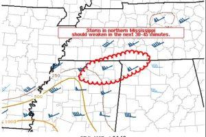 Latest Mesoscale Discussion Includes the Northwest Corner of Alabama