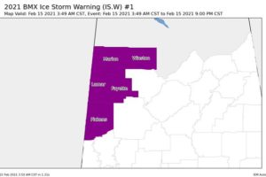 CORRECTION: NWS Birmingham Edits Expiration Times for the Ice Storm & Winter Storm Warnings