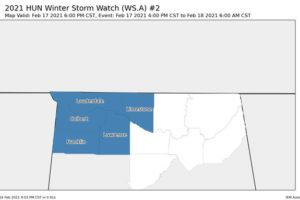 Winter Storm Watch Issued for Western Portions of North Alabama