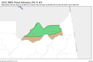 Flood Advisory Issued for Portions of Blount & Etowah Counties Until 10:15 am