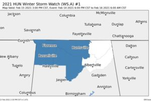 Winter Storm Watch Issued for Parts of North Alabama Ahead of Potential Icing Event