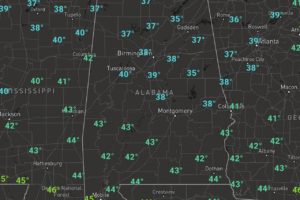 Midday Nowcast: Cloudy, Cold, and Blustery