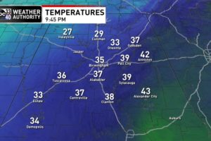 Freezing Fog for the Tennessee Valley Overnight