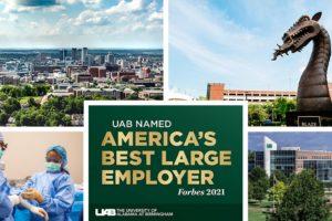 Alabama Newscenter — Forbes Names UAB 'America's Best Large Employer'