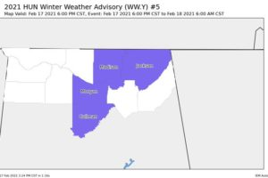Cullman County Added to Winter Weather Advisory