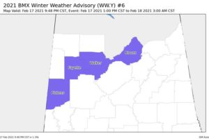 Blount County Added to the Winter Weather Advisory