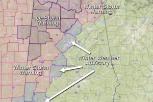 Ice Storm Warning For Northwest Alabama