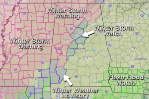 Winter Storm Ahead For North and West Alabama
