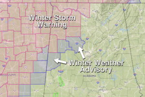 Winter Storm Warning For Northwest Alabama