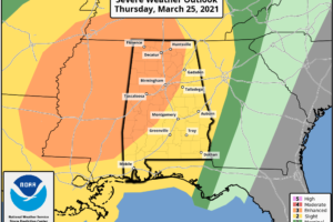 Significant Severe Weather Threat For Alabama Thursday/Thursday Night