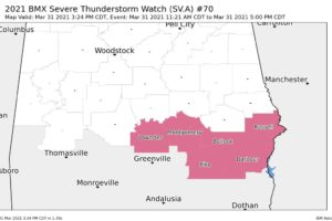 A Couple More Counties Removed from the Severe Thunderstorm Watch