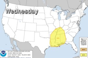 Significant Severe Weather Event Possible Wednesday (March 17)
