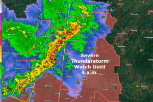 More Counties Removed from Severe Thunderstorm Watch