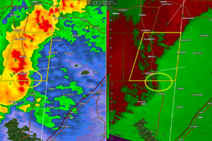 Heads Up Pickens and Northern Sumter:  Storm Heading Your Way Trying to Rotate