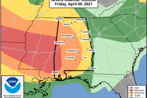 Severe Storms Possible Through Tomorrow Morning