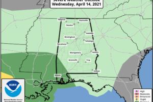Rain Returns To Alabama Later Today/Tonight