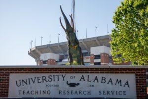 Alabama Newscenter — Giant Elephant Now Stands Outside University of Alabama Crimson Tide's Stadium
