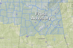 Frost Advisory Tonight For North/Central Alabama