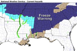 Freeze Warning For Most Of Alabama Tonight