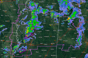 Swarm of Tornadoes in the Delta  of Mississippi